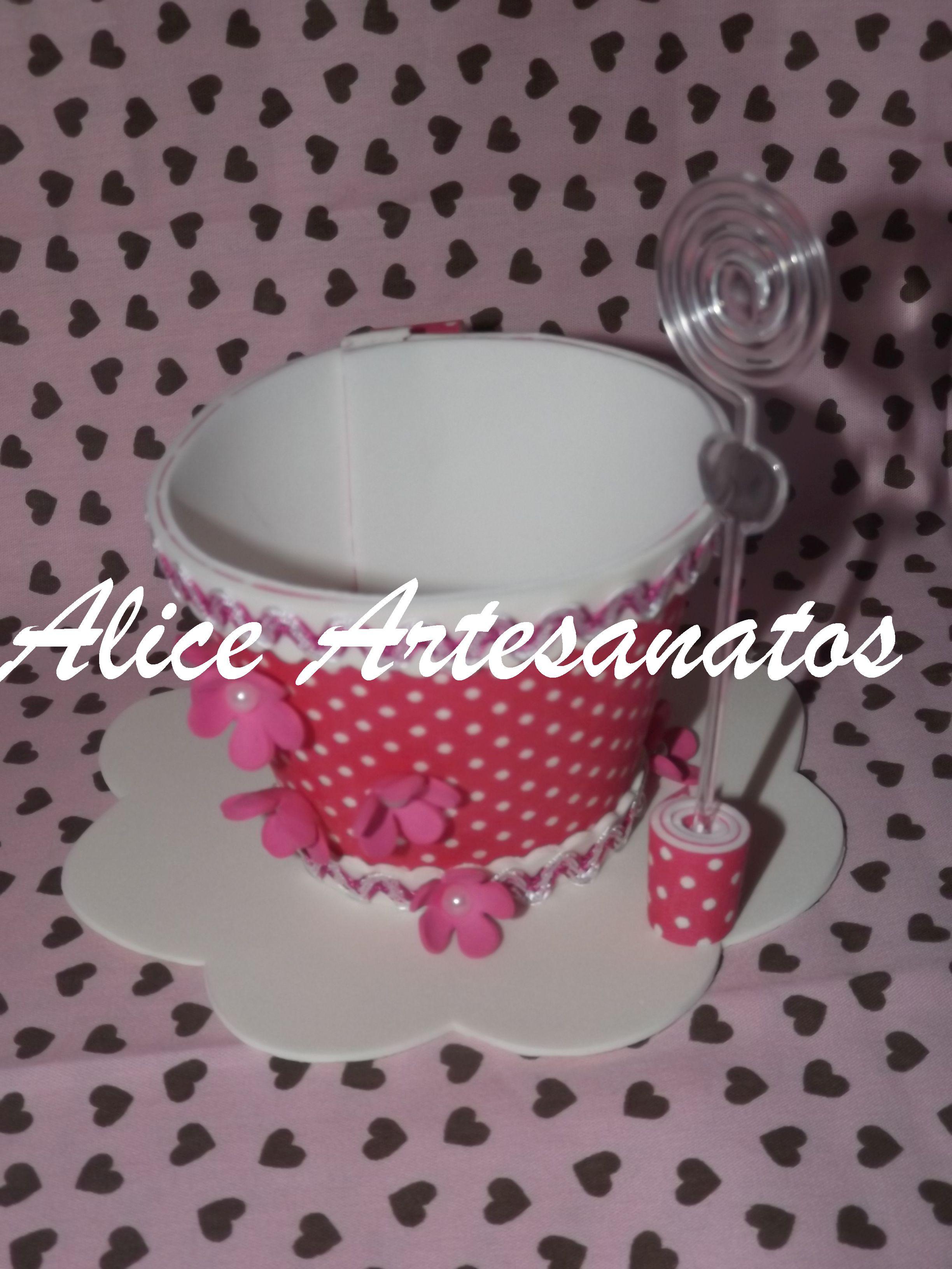 Enfeite De Xicara ~ Xícara em eva Alice Artesanatos Elo7