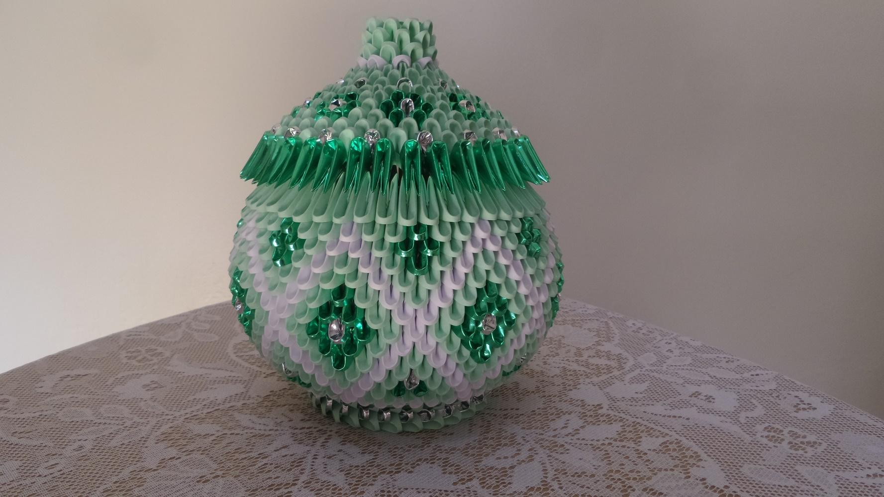 Aparador De Sala Magazine Luiza ~ Porta Jóias Objetos Origami 3d ArtesD u00dapapel Elo7