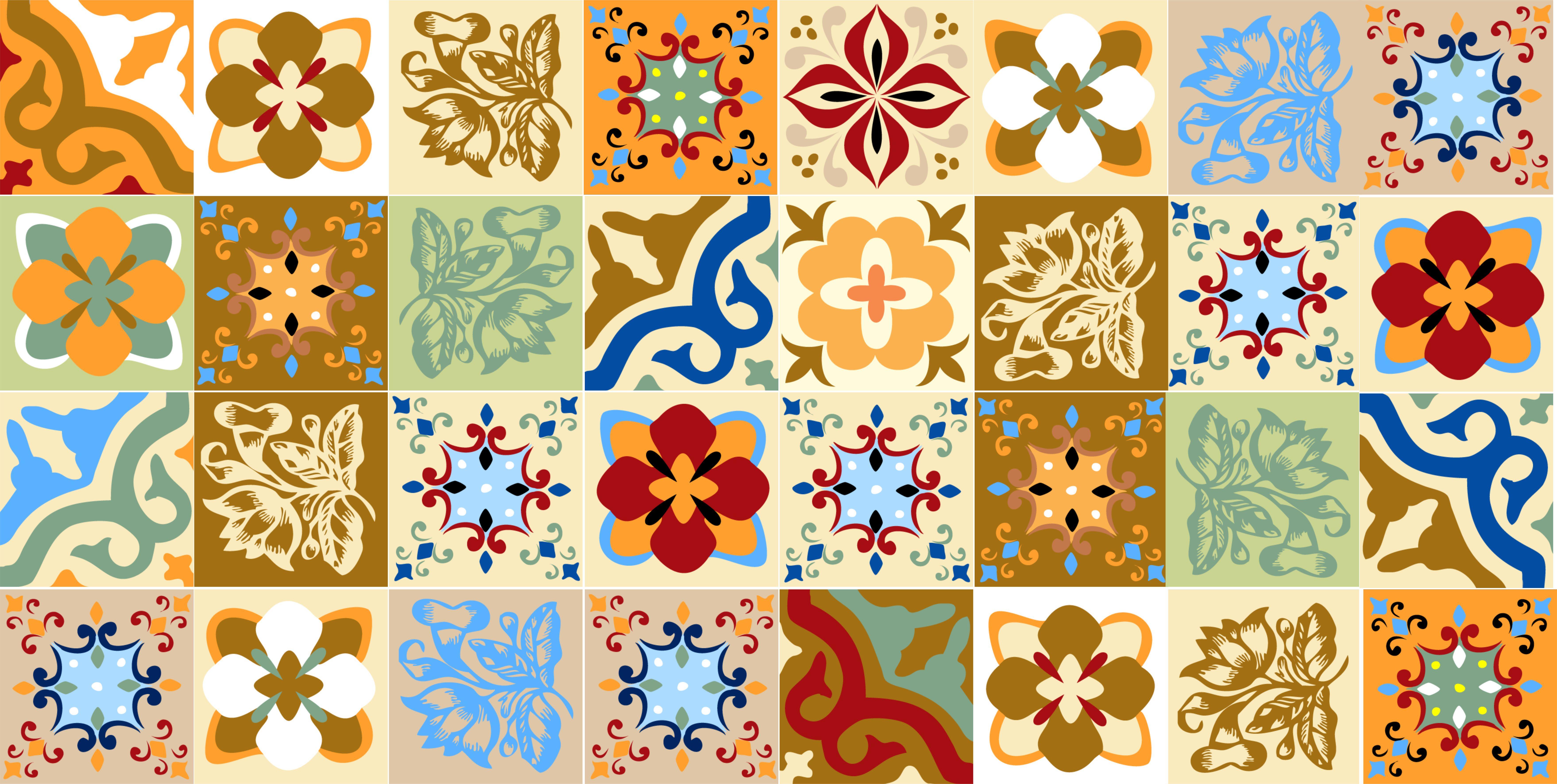 Azulejos cozinha vetor v rios desenhos for Azulejo sobre azulejo