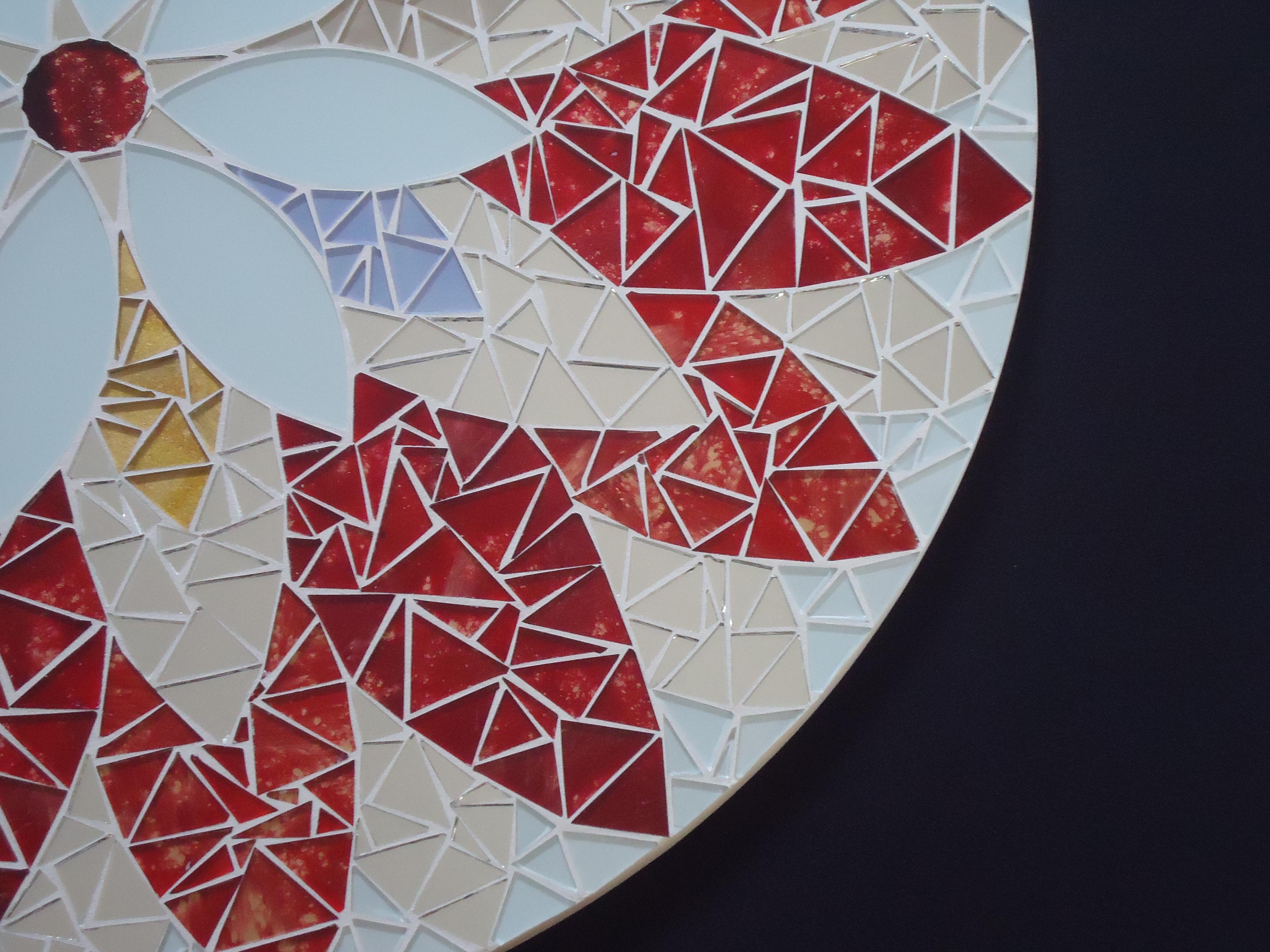Mandala 50cm cleo mosaicos elo7 for Cuadros mandalas feng shui decoracion mandalas