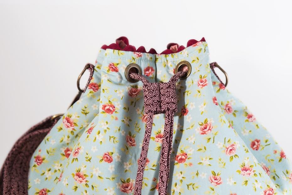 Bolsa De Tecido Artesanal : Bolsa saco bucket artesanal de tecido frida bolsas elo
