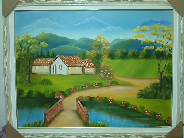 Casa de campo arte com lilian rodrigues elo7 for Pinturas para casas de campo