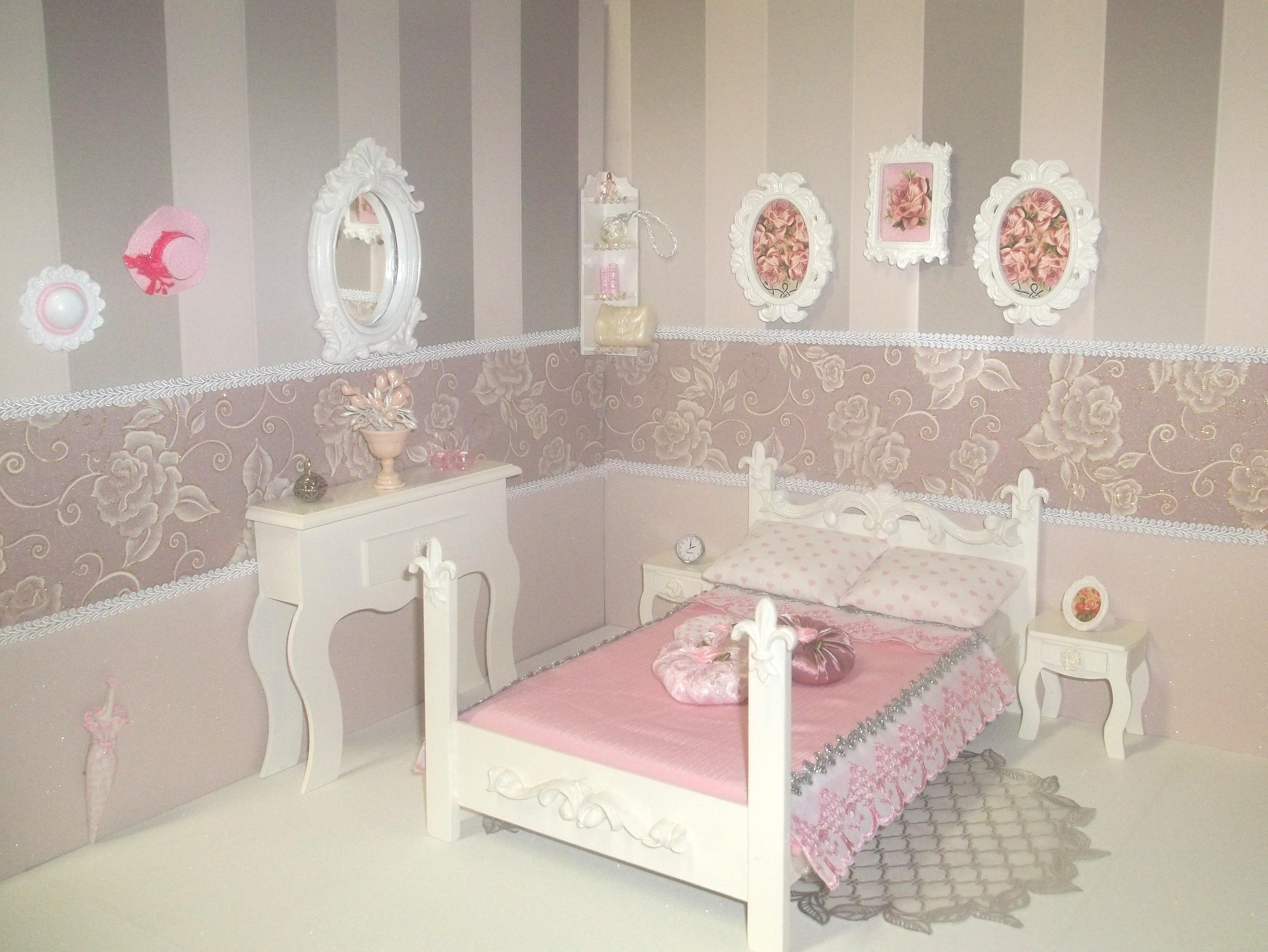 quarto provencal para barbie 02 moveis para casa de boneca #A82340 4092x3073