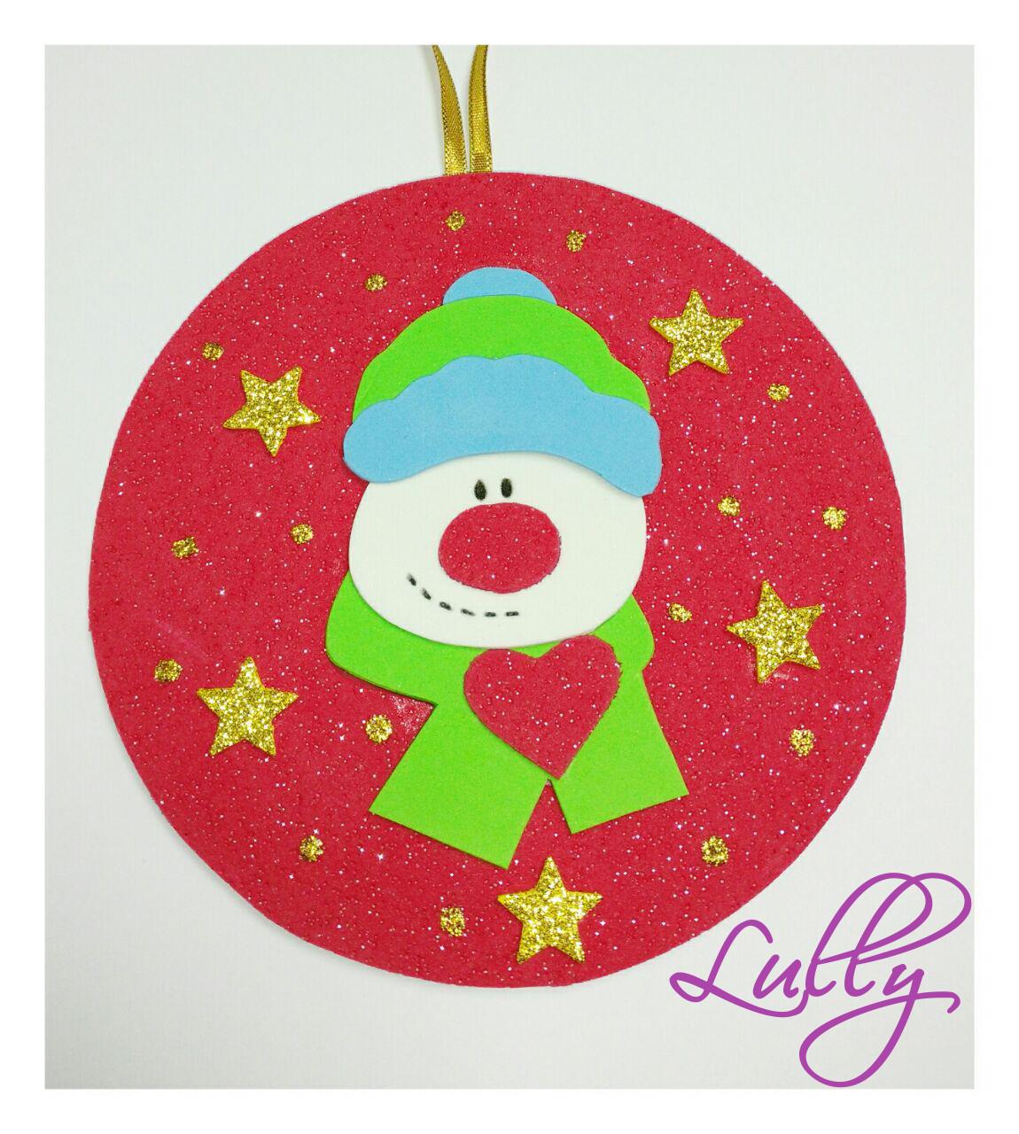 Enfeite De Eva ~ Enfeite de Natal em EVA e Cd reciclado Lully Elo7