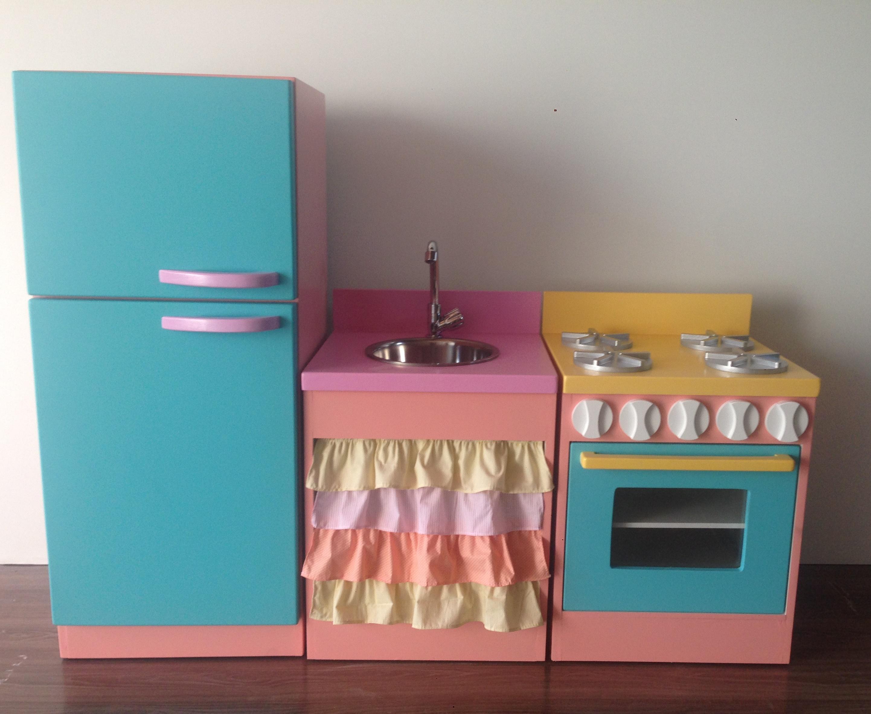 Armario De Cozinha De Brinquedo Novo Kit Cozinha Infantil C