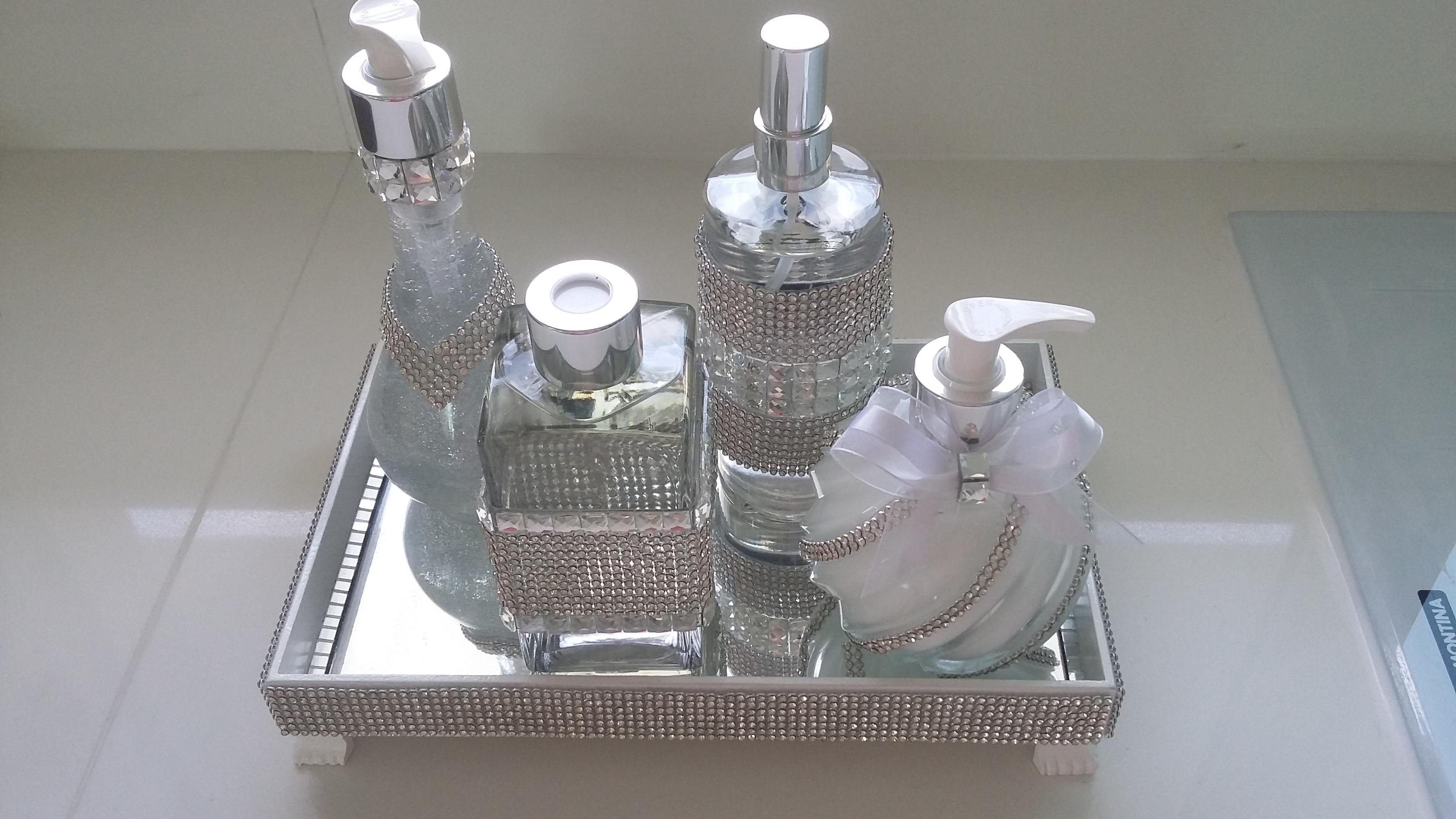 kit para banheiro lavabo bandeja espelho kit para banheiro lavabo body  #576374 3264 1836