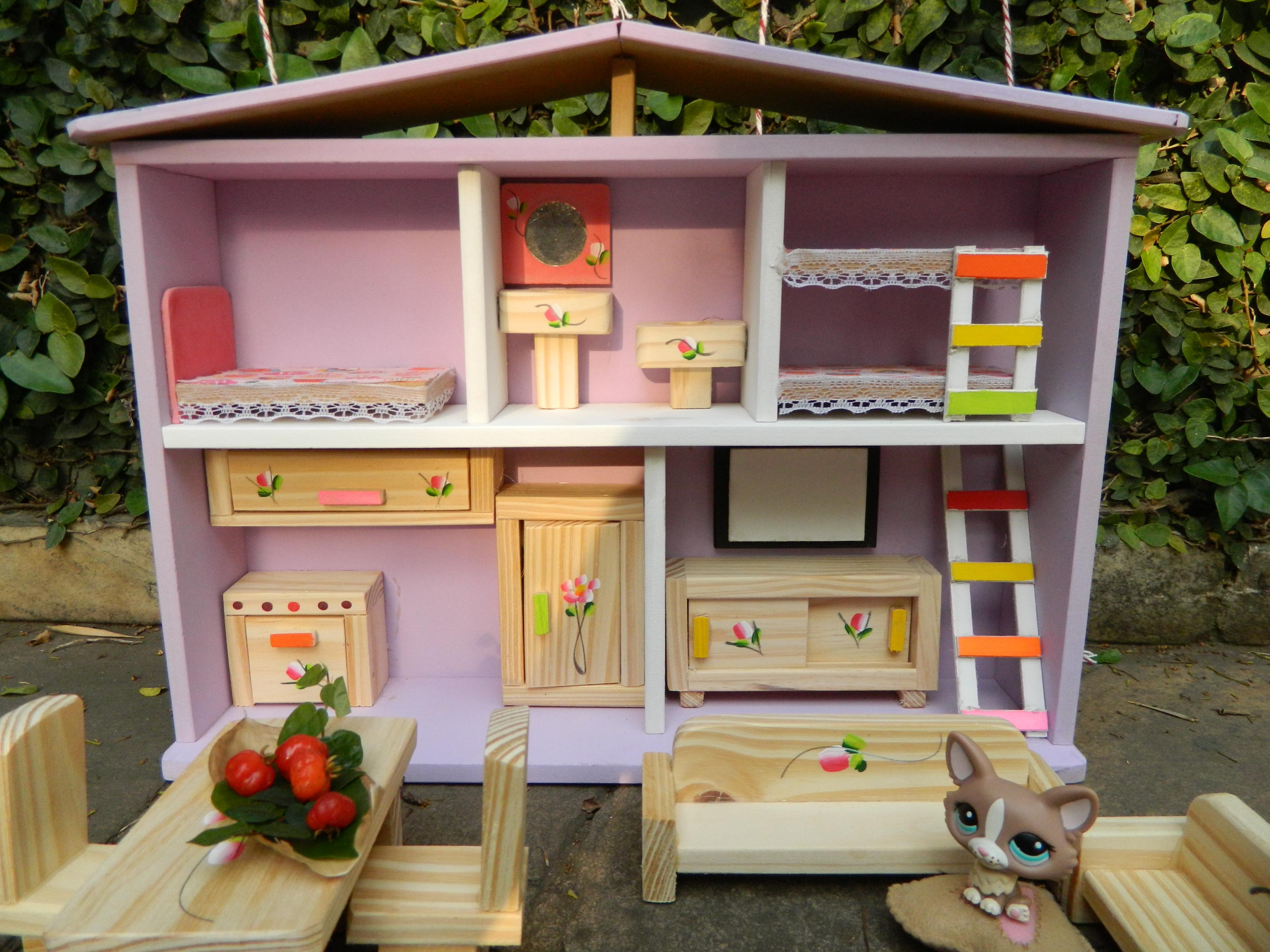 casa de boneca de madeira 02 andares casinha de madeira.jpg #A0682B 4320x3240