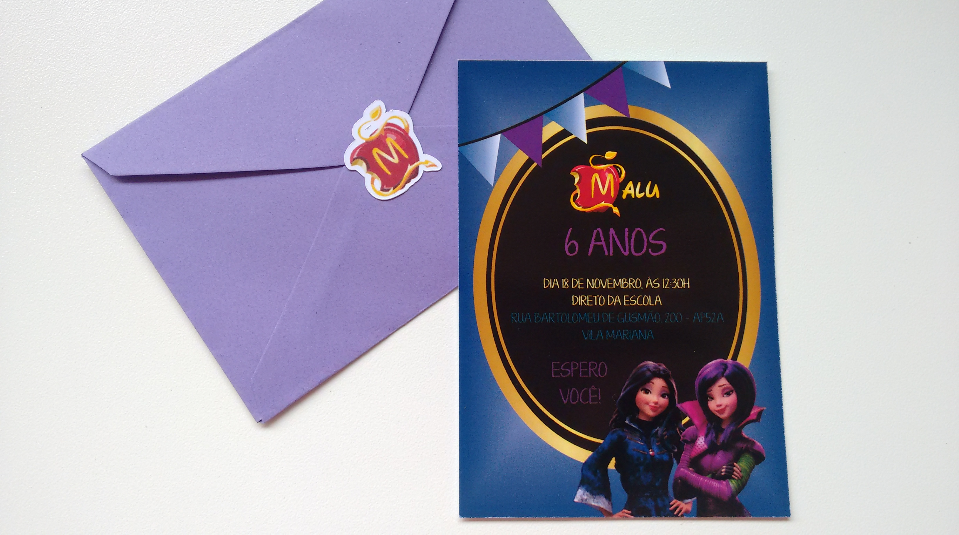 Adesivo Símbolo Da Paz Branco 20 Cm No Elo7: Convite Descendentes + Envelope + Ades.