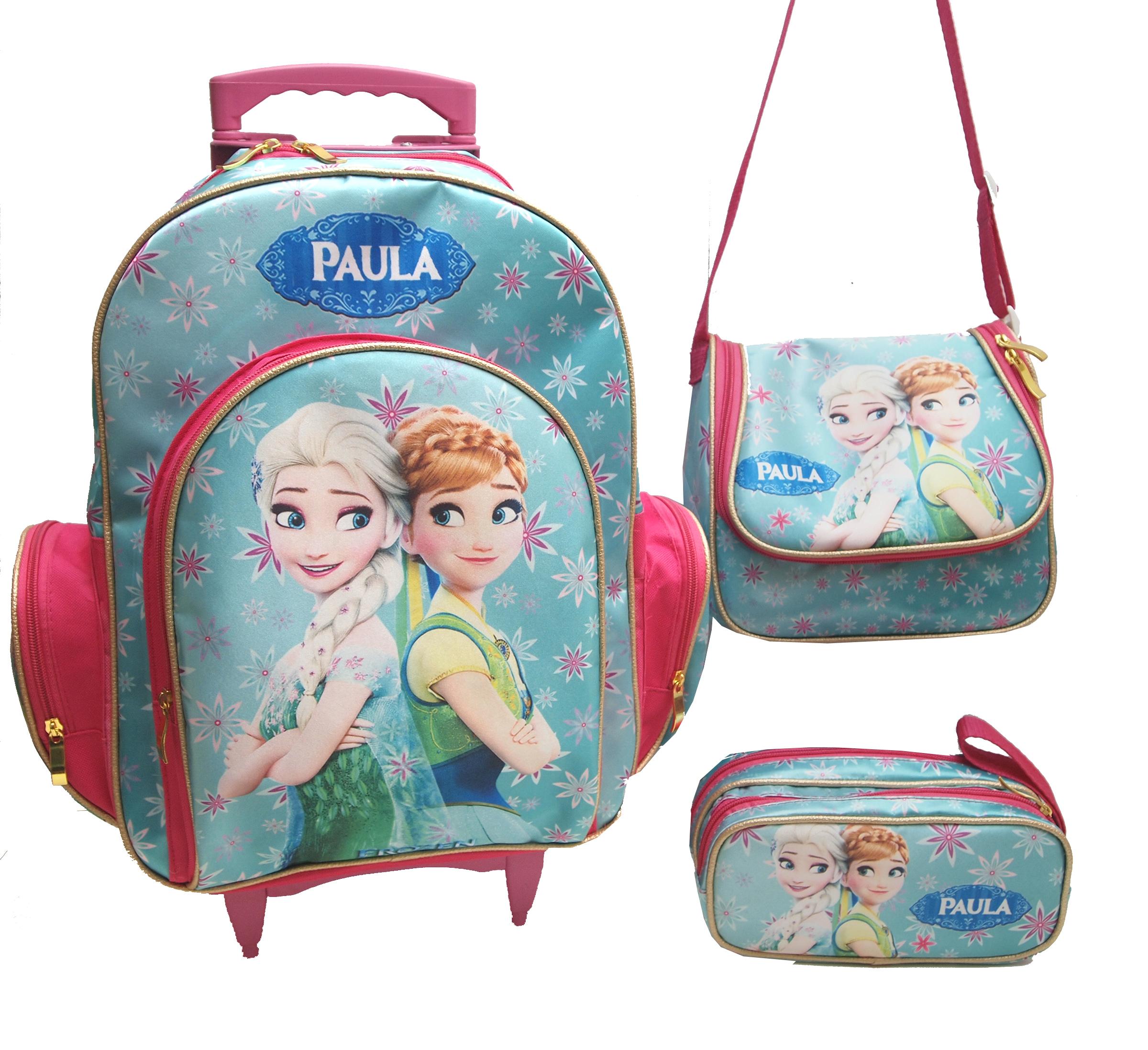 Bolsa Escolar Feminina Da Frozen : Kit mochila escolar rodinha frozen e cia elo