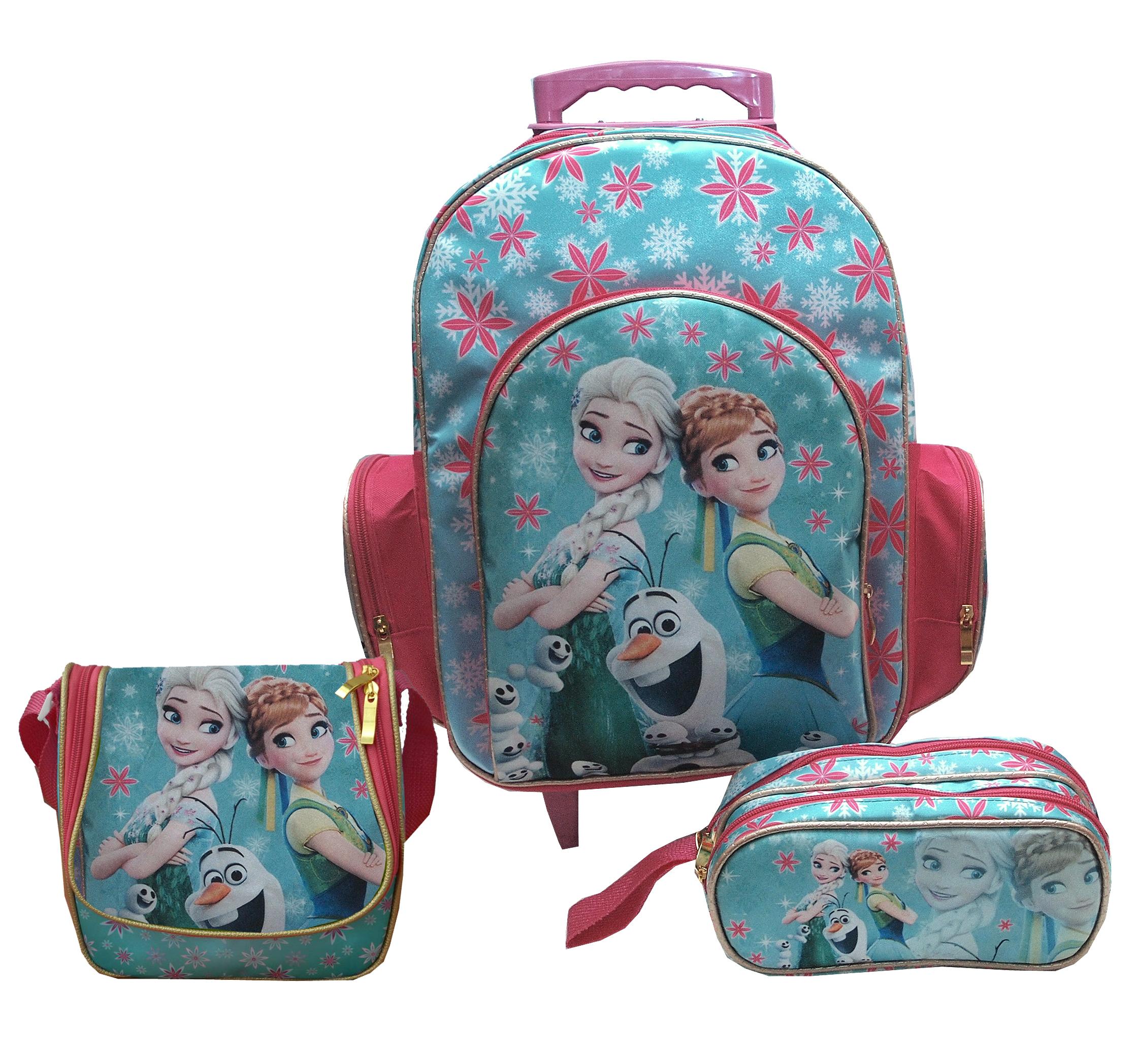 Bolsa De Rodinha Infantil Pequena : Kit mochila escolar rodinha frozen e cia elo