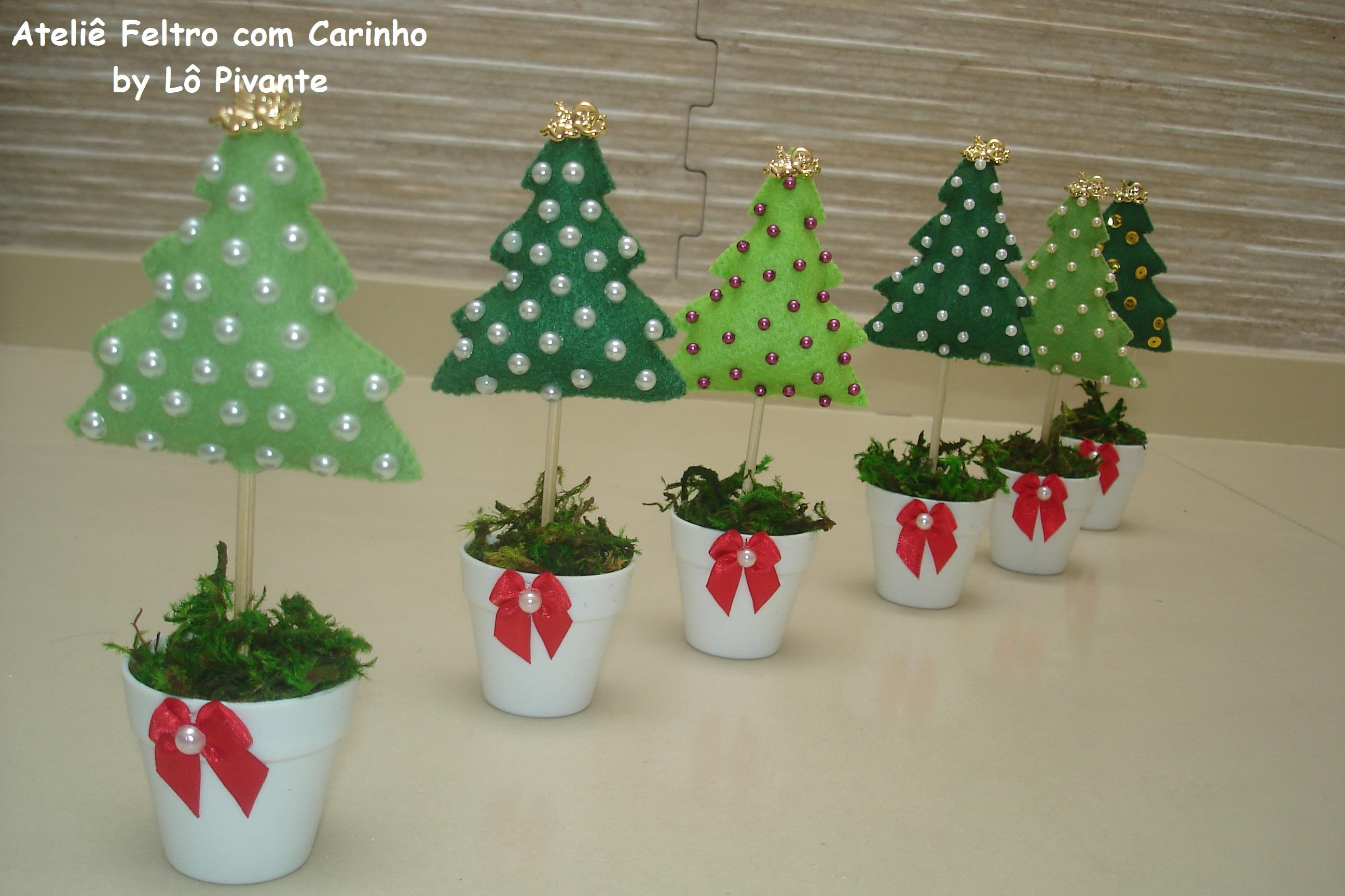 Enfeite De Natal ~ Enfeite de mesa Arvore de natal, 15 cm Ateli u00ea Feltro com Carinho L u00f4 Pivante Elo7