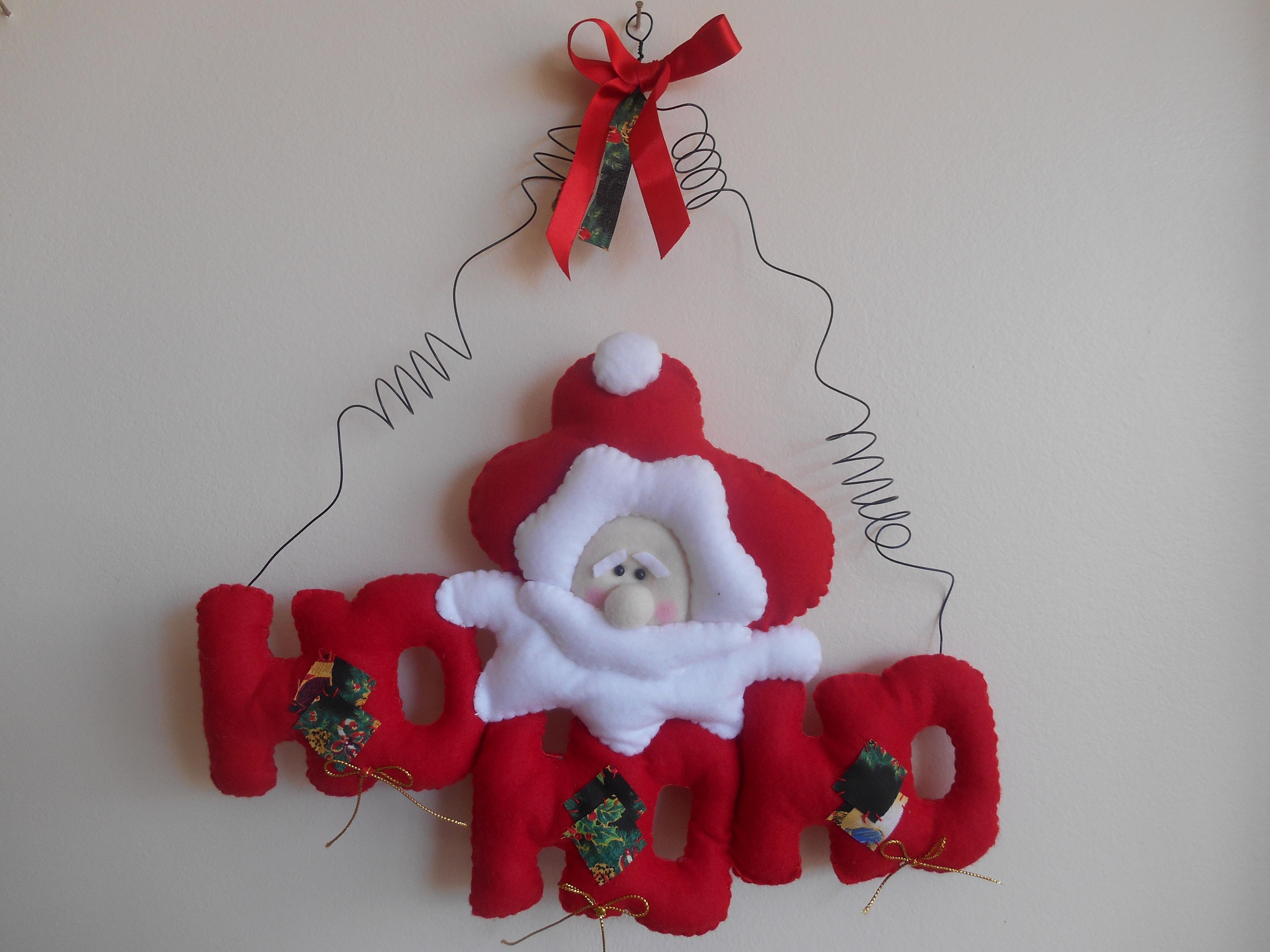 Enfeite De Natal ~ ENFEITE DE PORTA NATAL crocheestilocasa Elo7