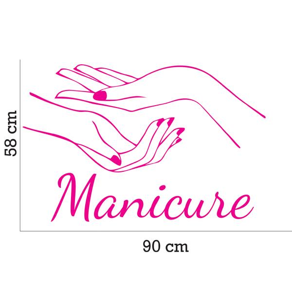 Aparador Vermelho Laqueado ~ Adesivo Parede Sal u00e3o Beleza Manicure Inove Brindes Elo7