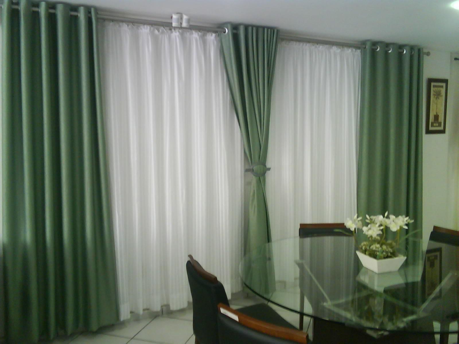 Cortina para quarto verde claro obtenha uma for Cortina verde agua