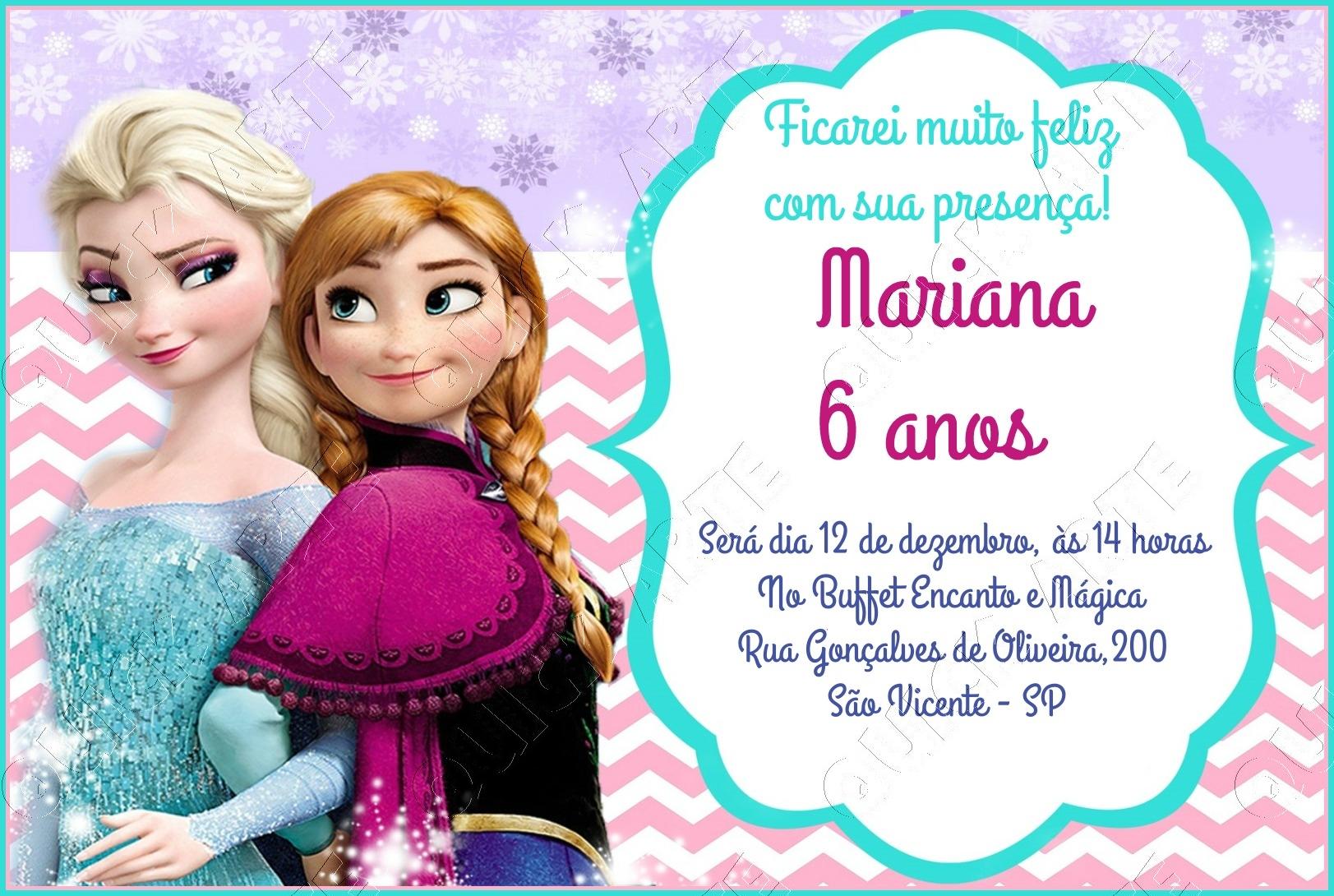 Frozen Invitation Printable with beautiful invitation template
