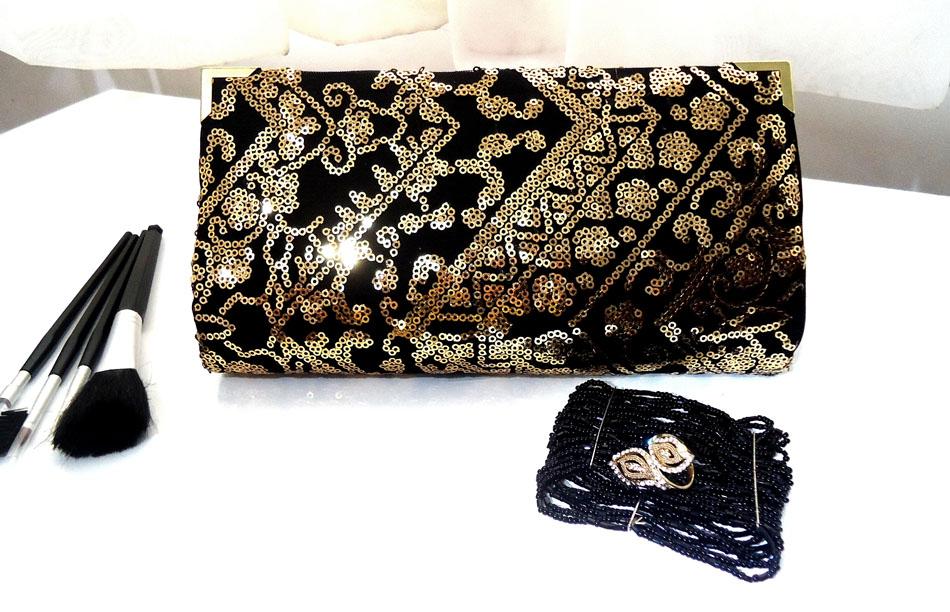 Bolsa De Mão Preta E Branca : Clutch preta e dourada dagi bolsas clutches elo
