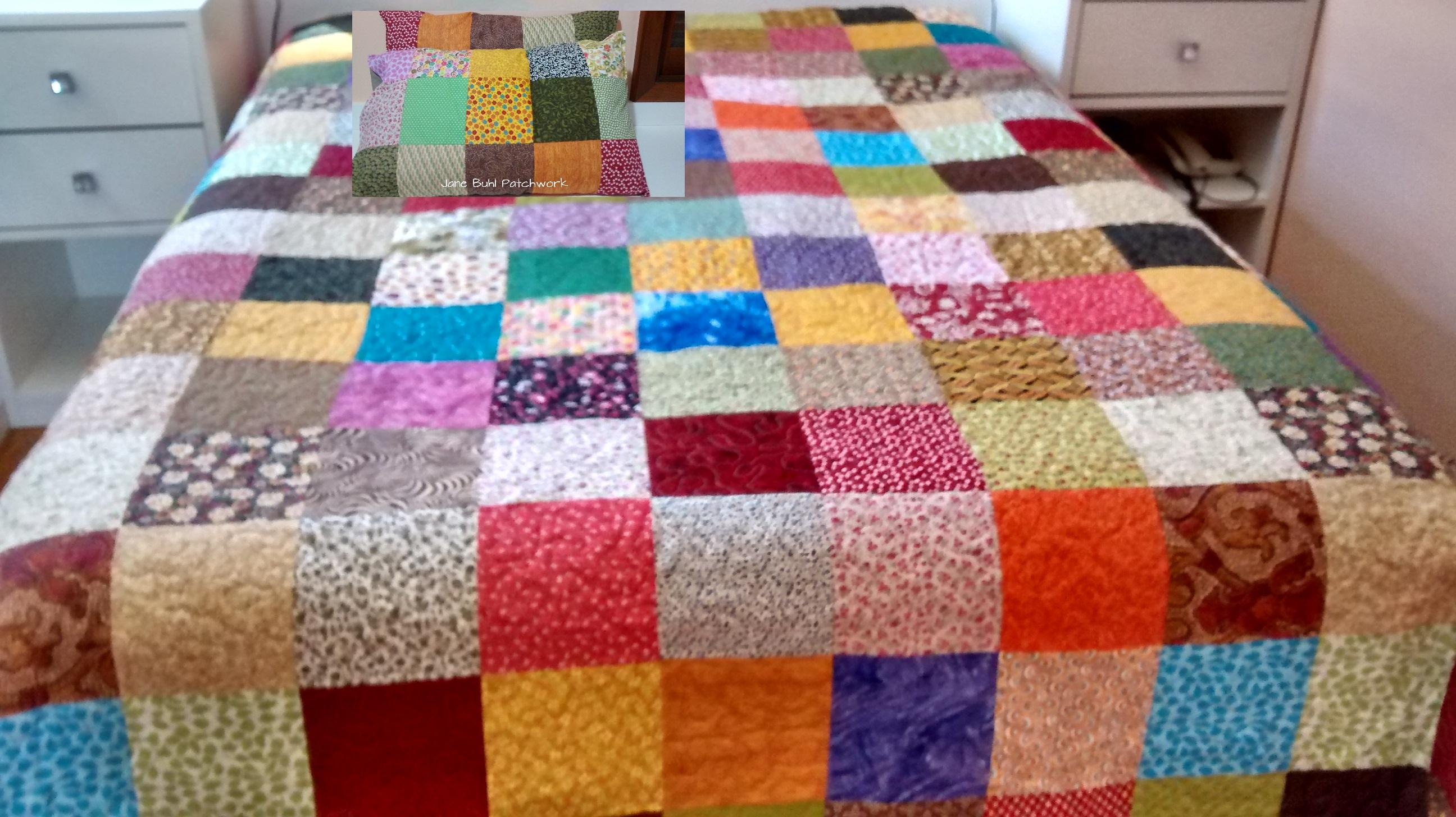 Colcha em patchwork colorida jane buhl patchwork elo7 - Colcha patchwork ...