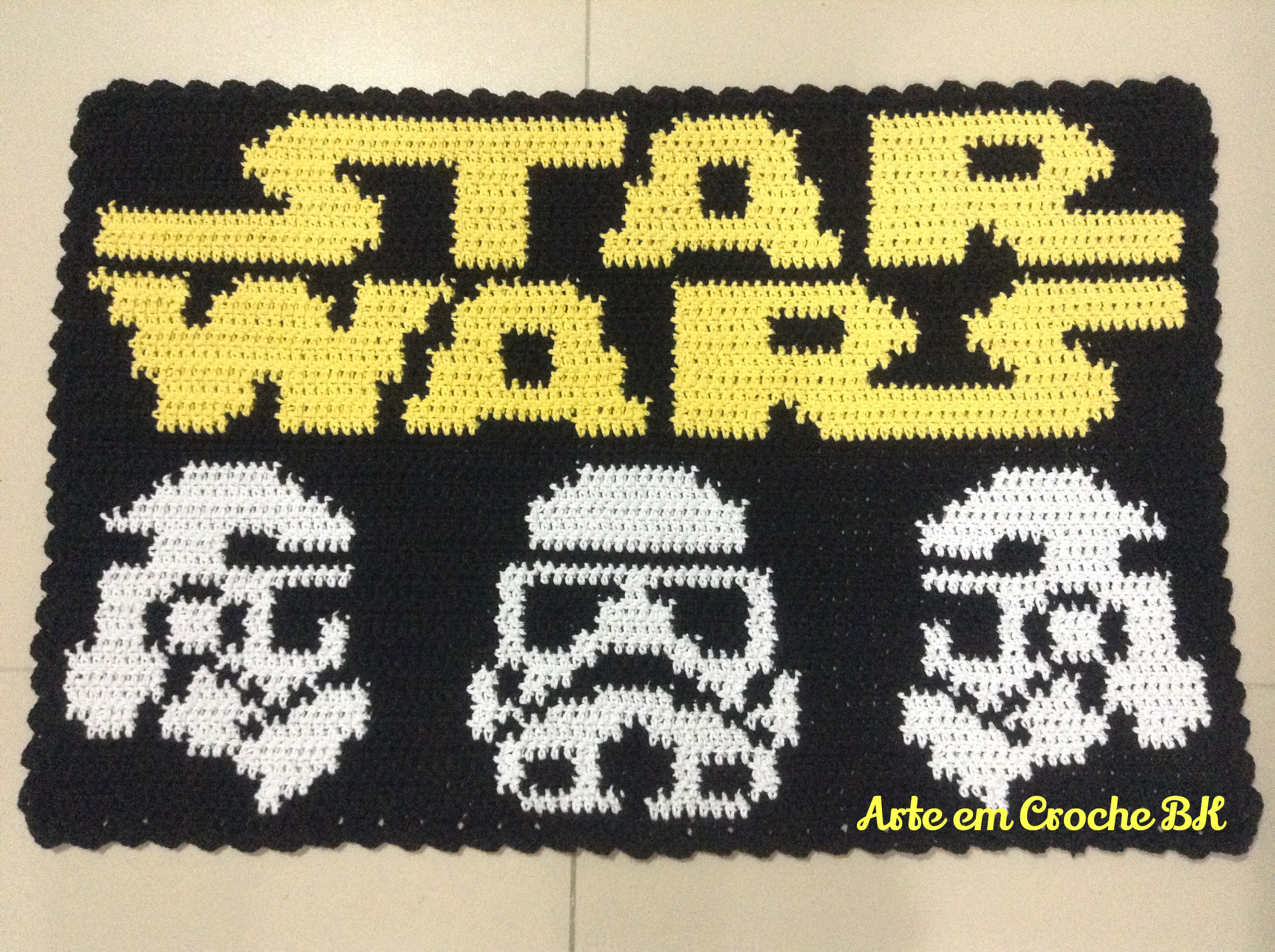 tapete croche star wars arte em croche bk elo7. Black Bedroom Furniture Sets. Home Design Ideas