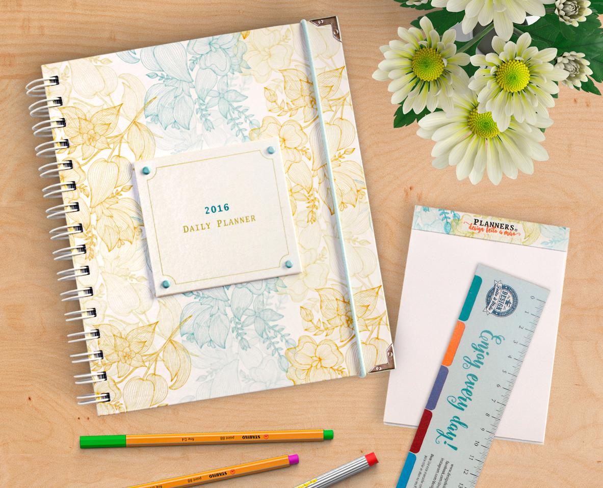 Planner Personalizado Design Floral Design Feito 224 M 227 O