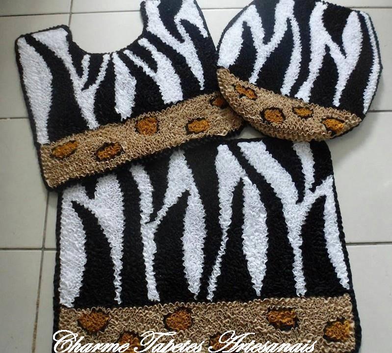 Tapete frufru zebra charme tapetes artesanais elo7 for Zebra tapete