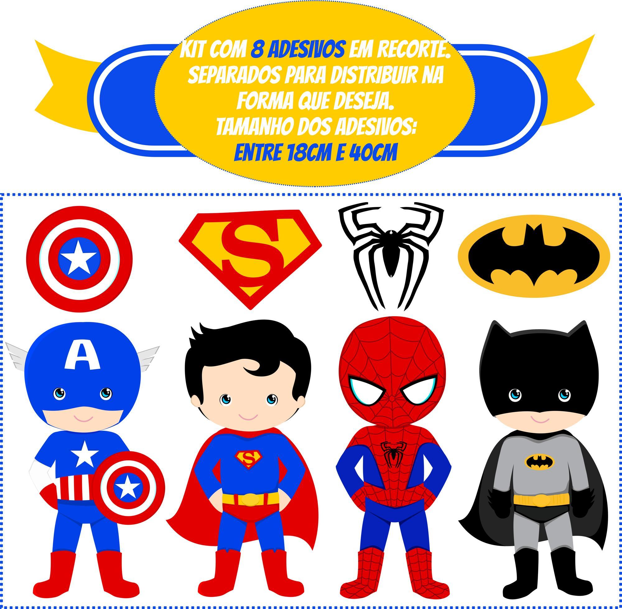 Adesivo De Parede Super Herois ~ Adesivo Infantil Super herois Virtual Grand Design Elo7