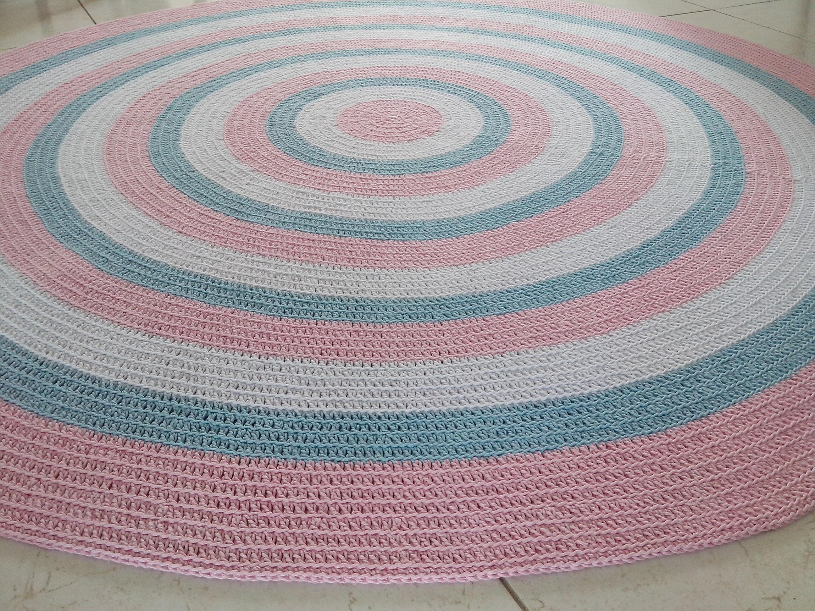 tapete croch baby meninas rosa 1 80m atelier val cordeiro elo7. Black Bedroom Furniture Sets. Home Design Ideas