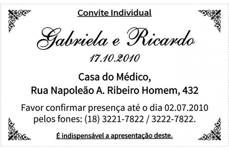 Convites Individuais C 225 Ssia Nascimento Elo7