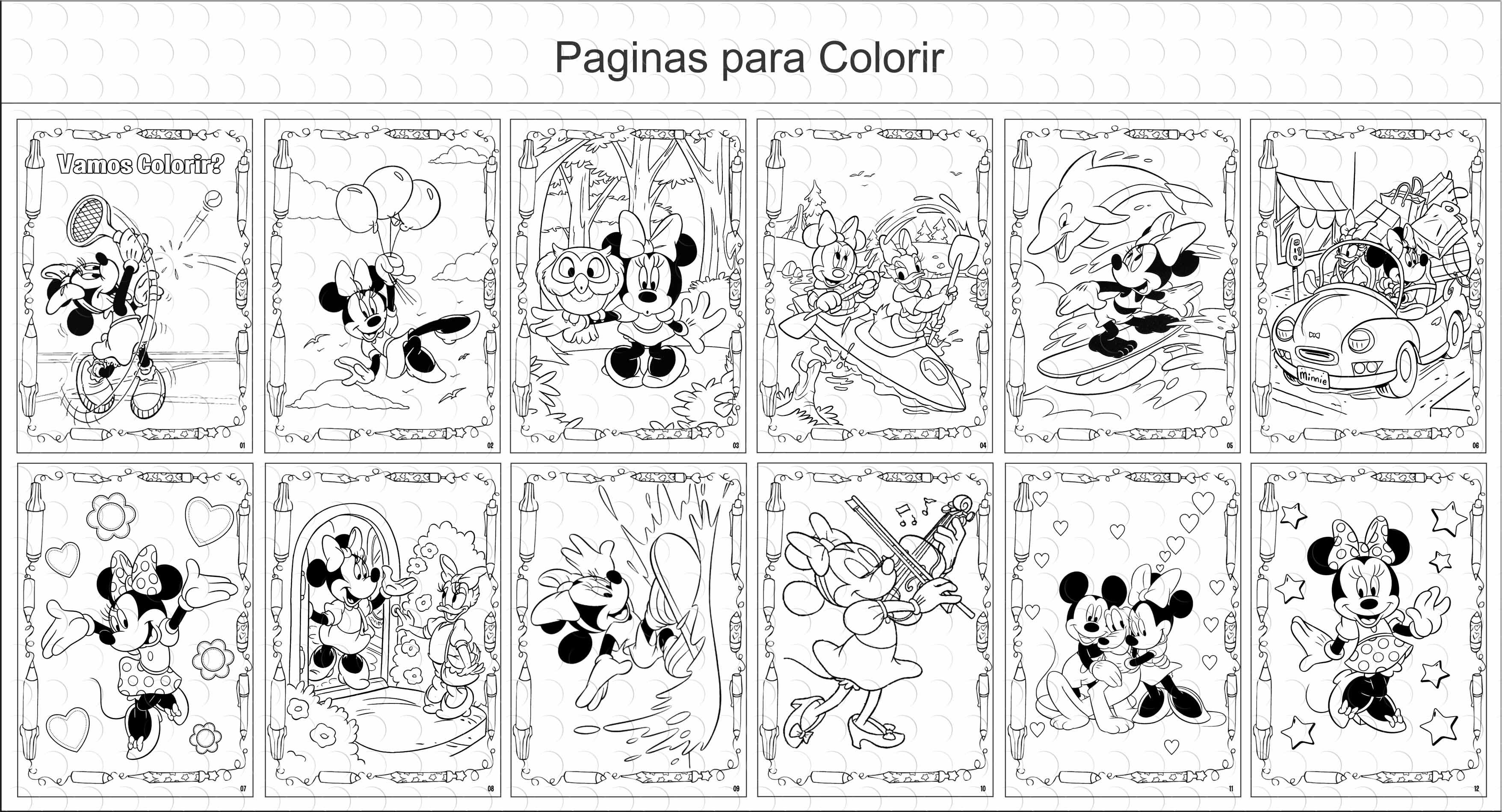 Livros Para Colorir 15x21cm- Minnie Rosa