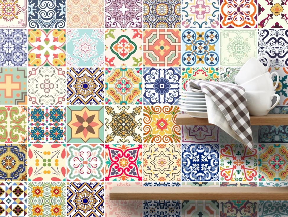 Decoracao de parede de cozinha com azulejo for Azulejo sobre azulejo