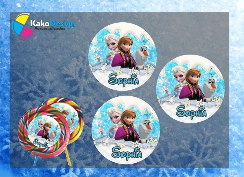 Adesivo Lembrancinha Personalizado ~ Adesivo para Pirulito Frozen no Elo7 Kako Design Personalizados (660A28)