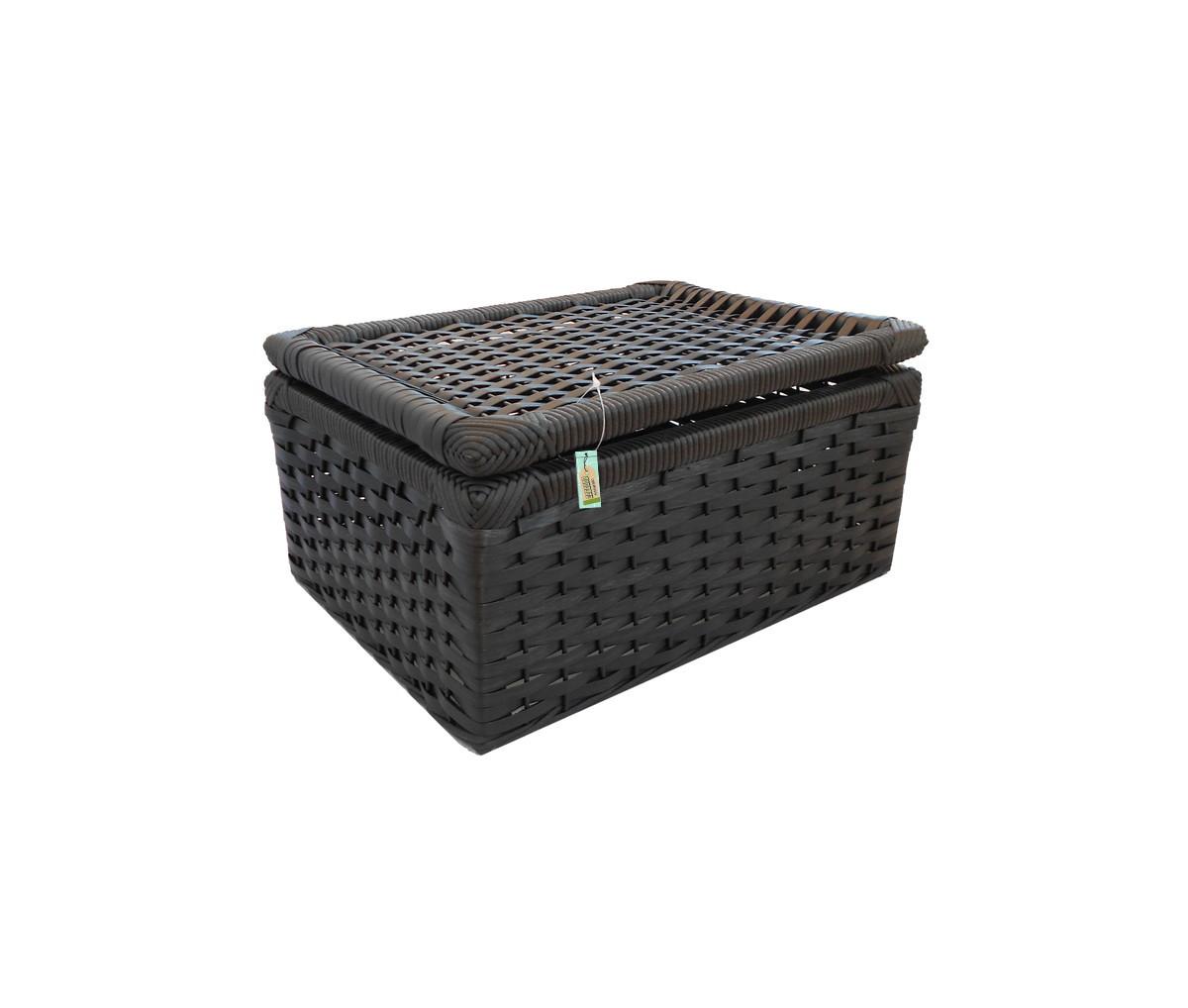 caixa fibra sintetica preta 40x30x20 artesanato caixa fibra sintetica  #866F45 1200x1018