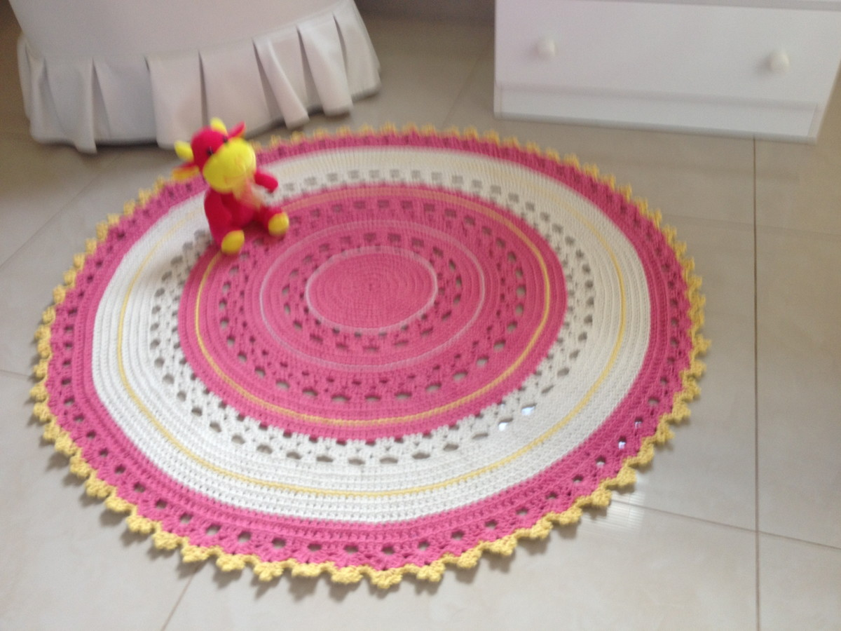 tapete baby rosa e amarelo ateli vera peixoto elo7. Black Bedroom Furniture Sets. Home Design Ideas