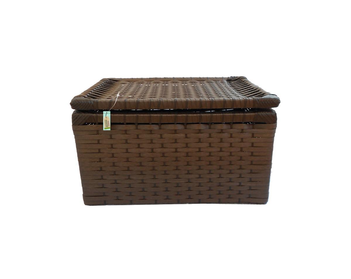 caixa fibra sintetica tabaco 41x33x25 cestos caixa fibra sintetica  #5A4231 1200x955