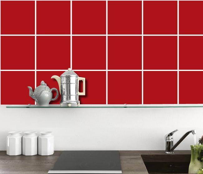Adesivo De Parede Filtro Dos Sonhos ~ Adesivo De Azulejo Cozinha Vermelho # Beyato com> Vários desenhos sobre idéias de design de cozinha
