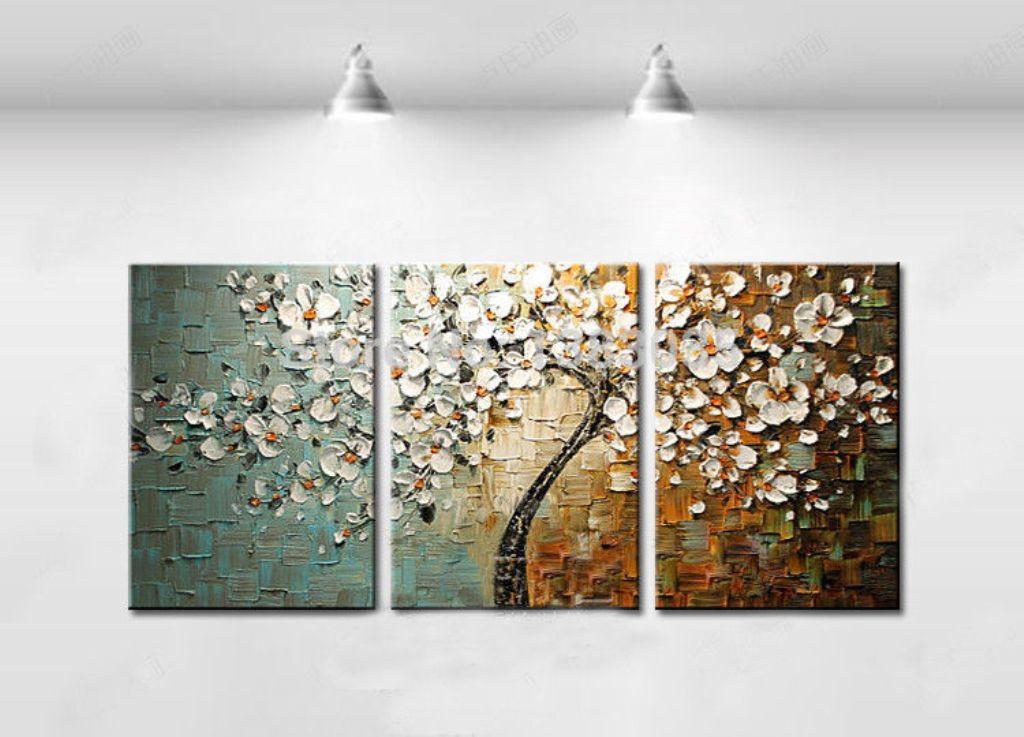Quadro Pintura Em Tela Abstrato árvores No Elo7