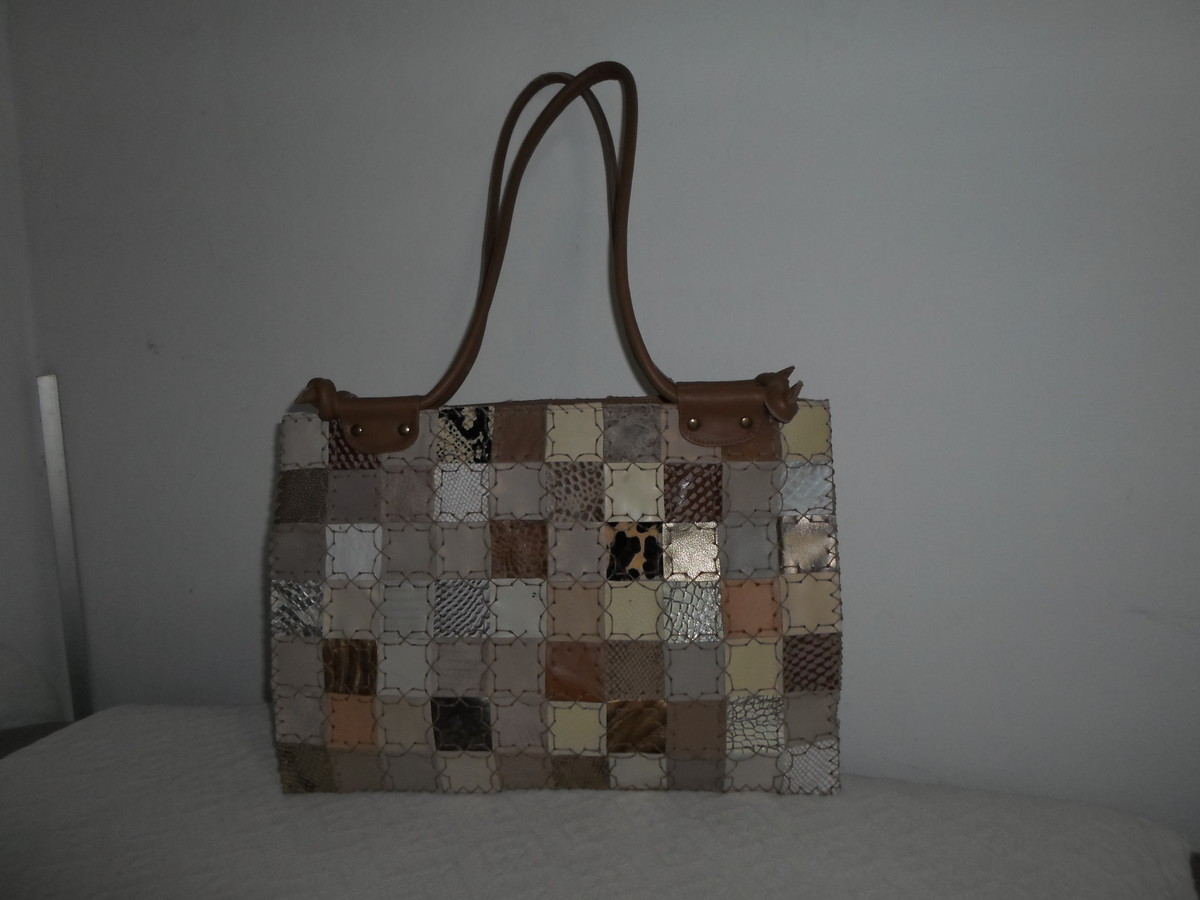 Bolsa De Couro Legitimo Artesanal : Bolsa de couro artesanal tecendo arte artesanato em