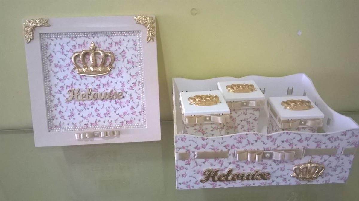 kit higiene bebe menina mimos da fl via arte em mdf elo7
