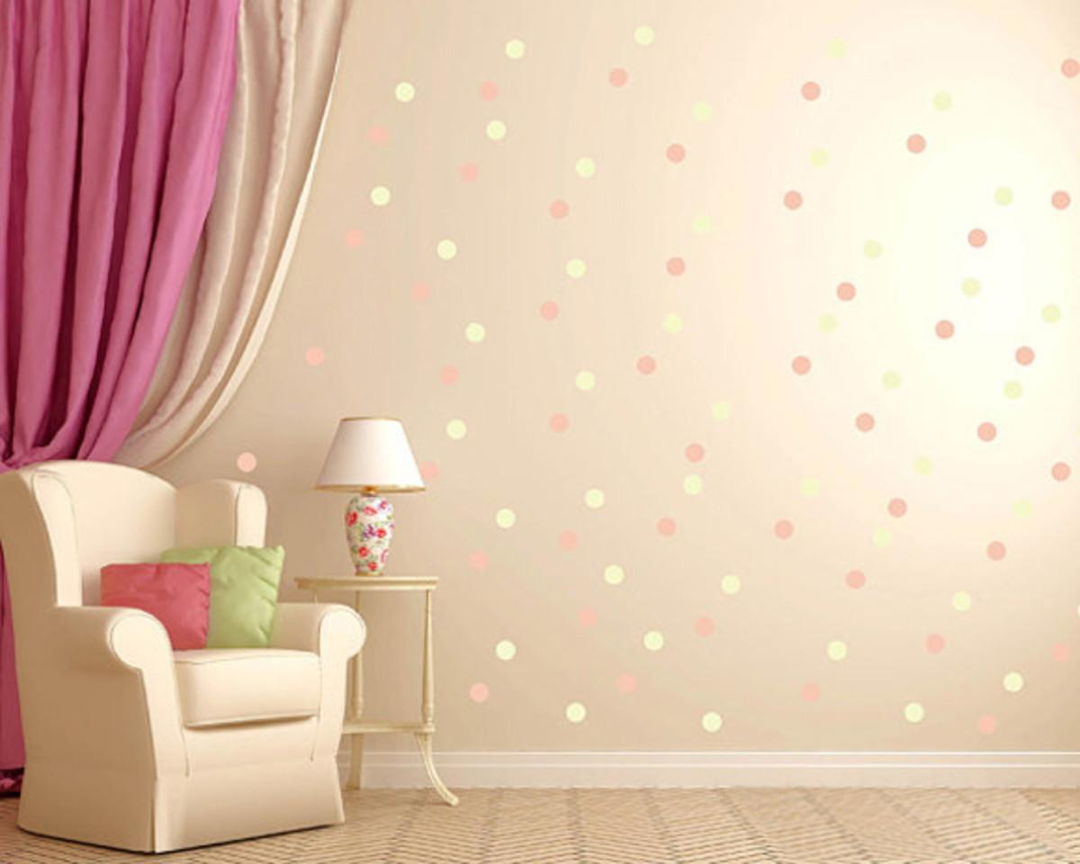 Bolinhas diversas cores Adesivos parede  Mini Atelier  Elo7