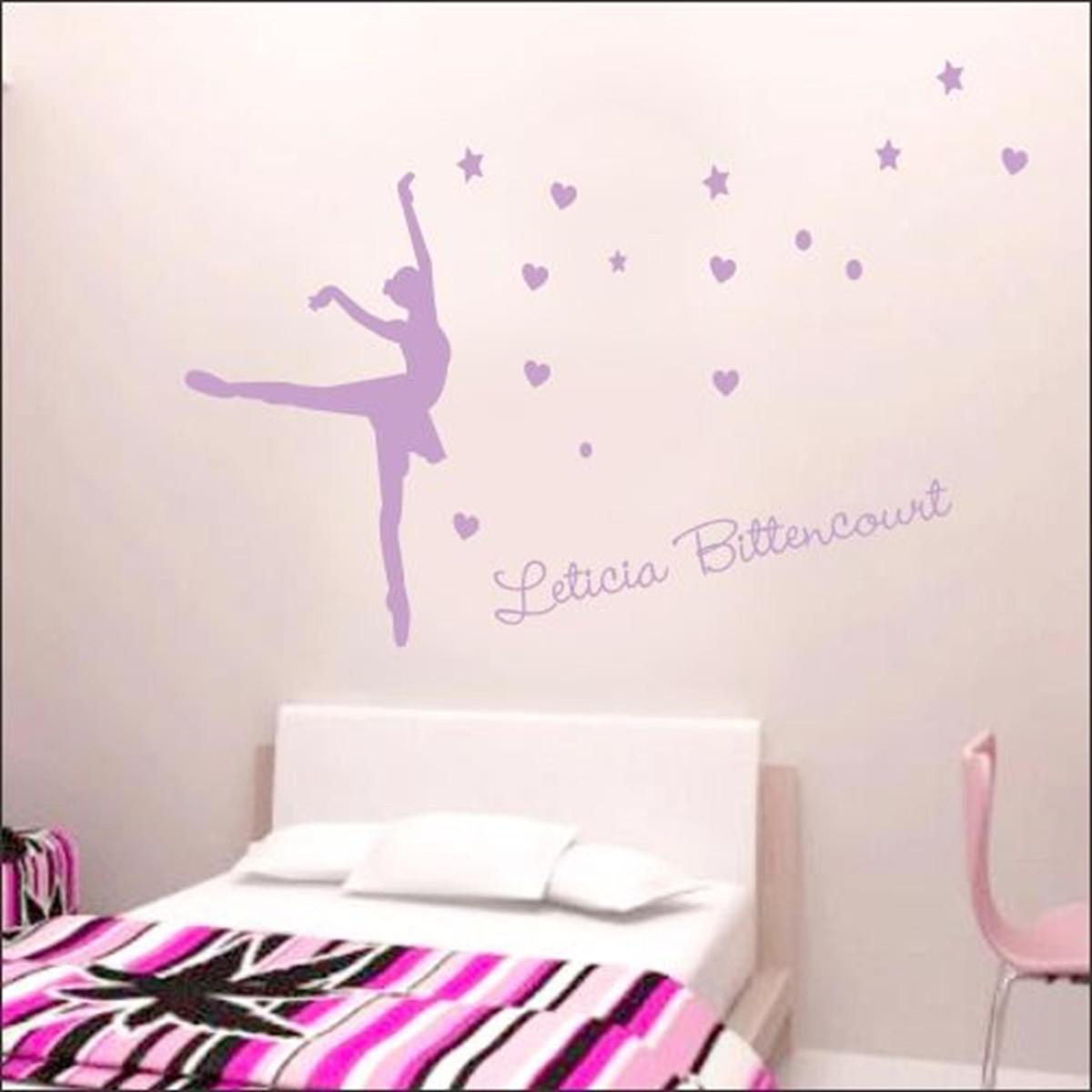 Armario Jardin Bricodepot ~ Adesivo Bailarina com Nome Personalizado ARTM decoraç u00e3o