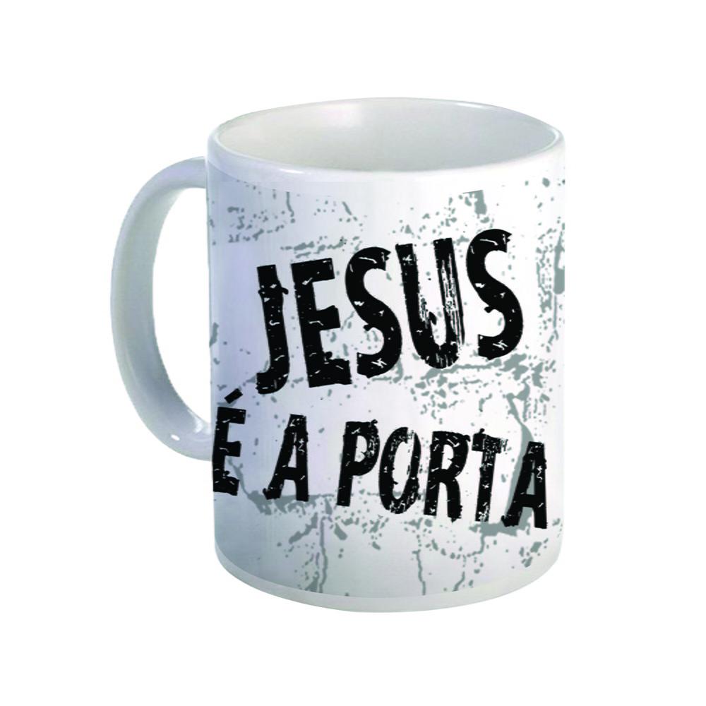Caneca de cer mica jesus a porta no elo7 cria es for Jesus a porta