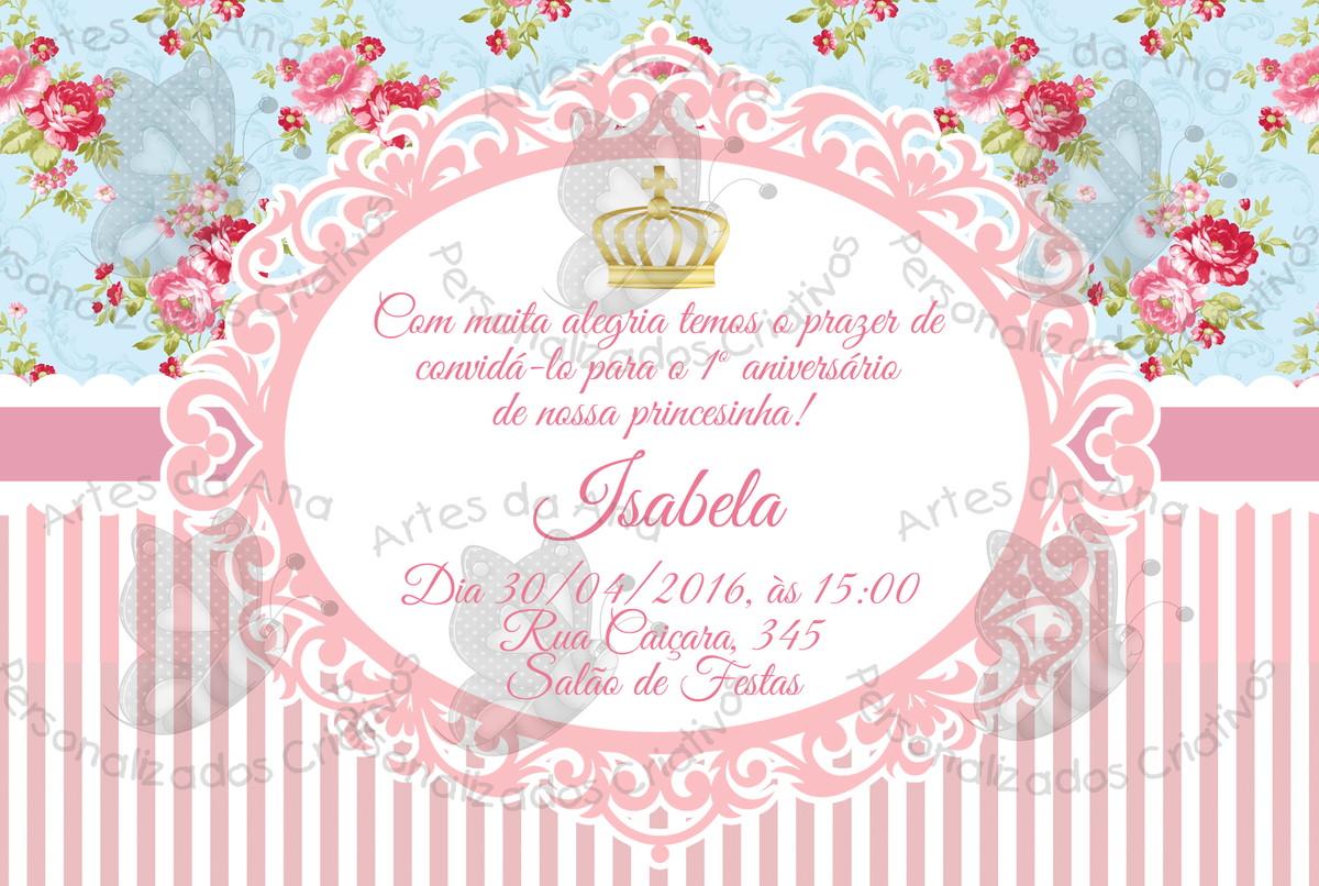 Convite Vintage Floral No Elo7 Artes Da Ana