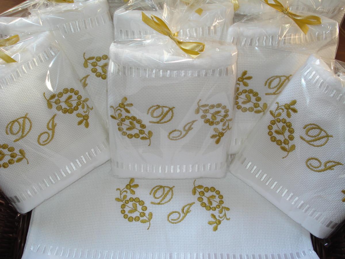 Bolsa De Lembrancinha De Casamento : Toalha lembrancinha casamento iniciais ello? bordados