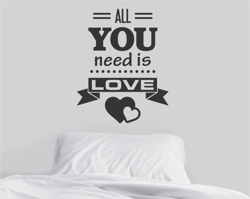 Adesivo Janela Privacidade ~ Adesivo de Parede All You Need is Love Vetor e Imagem Elo7