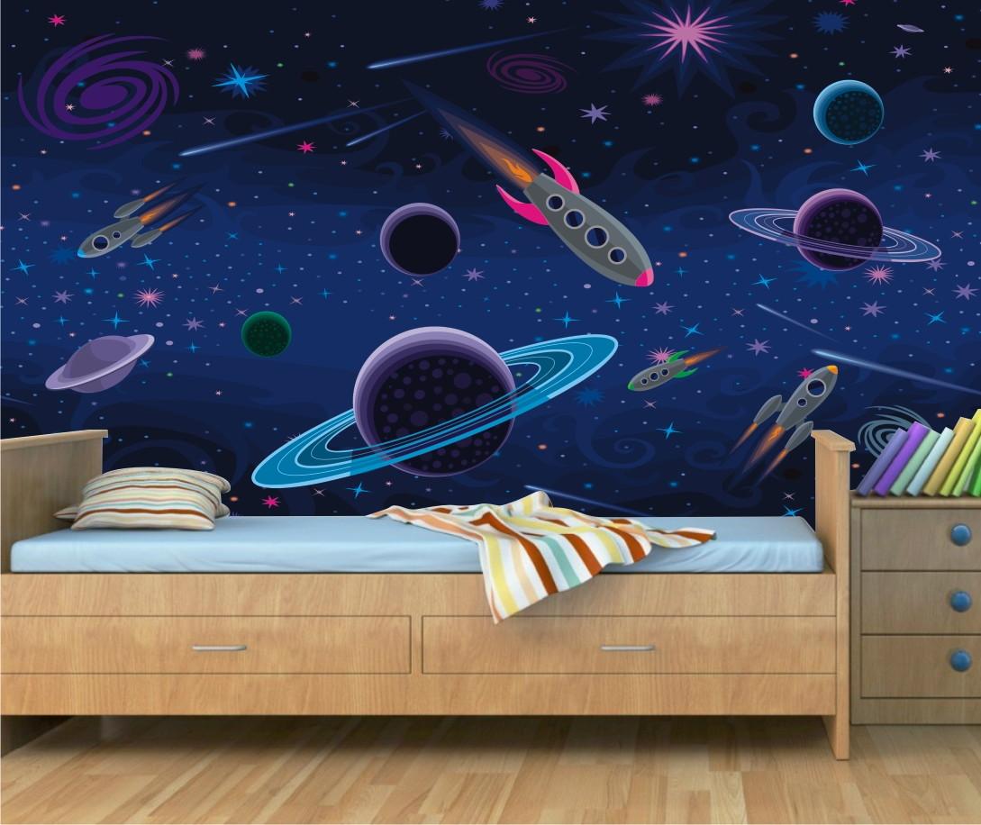 Adesivo Infantil Espaço Planeta Nave 13  QuartinhoDecorado  Elo7