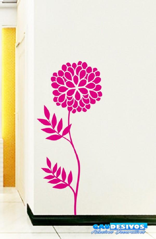 Adesivo Envelopamento Joinville ~ Adesivo de Parede Floral Dente de Le u00e3o GAUDESIVOS Elo7
