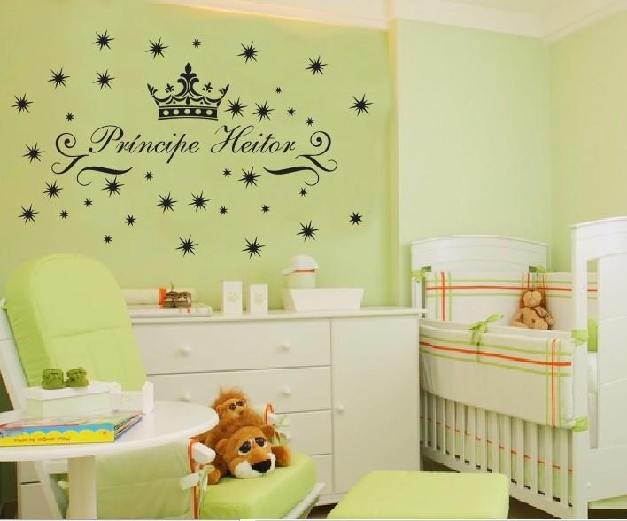 Adesivo De Flores ~ Adesivo Princípe para quarto de beb u00ea Aarte Decoor Elo7