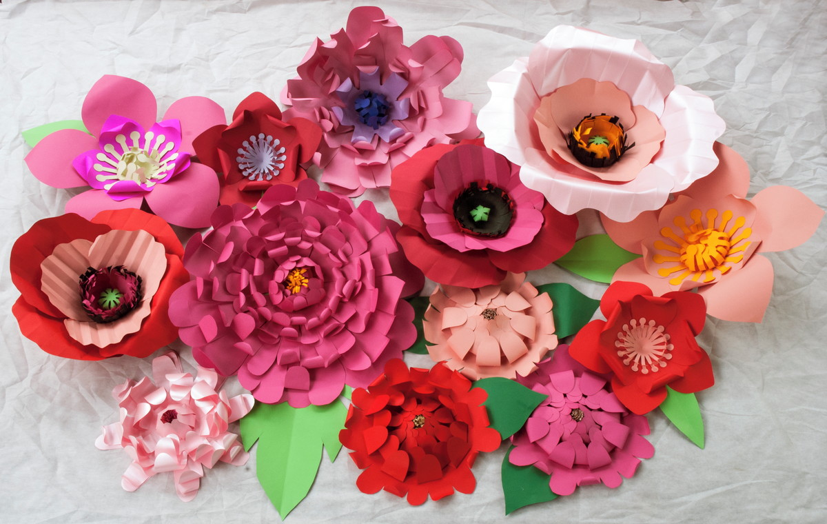Flores gigantes para decoraç u00e3o no Elo7 Cecile de Luz Flores e Arte em papel (45276F) -> Decoração De Aniversário Com Flores Gigantes