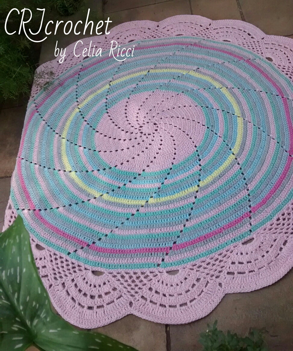tapete mandala baby rosa com arcos crjcrochet elo7. Black Bedroom Furniture Sets. Home Design Ideas