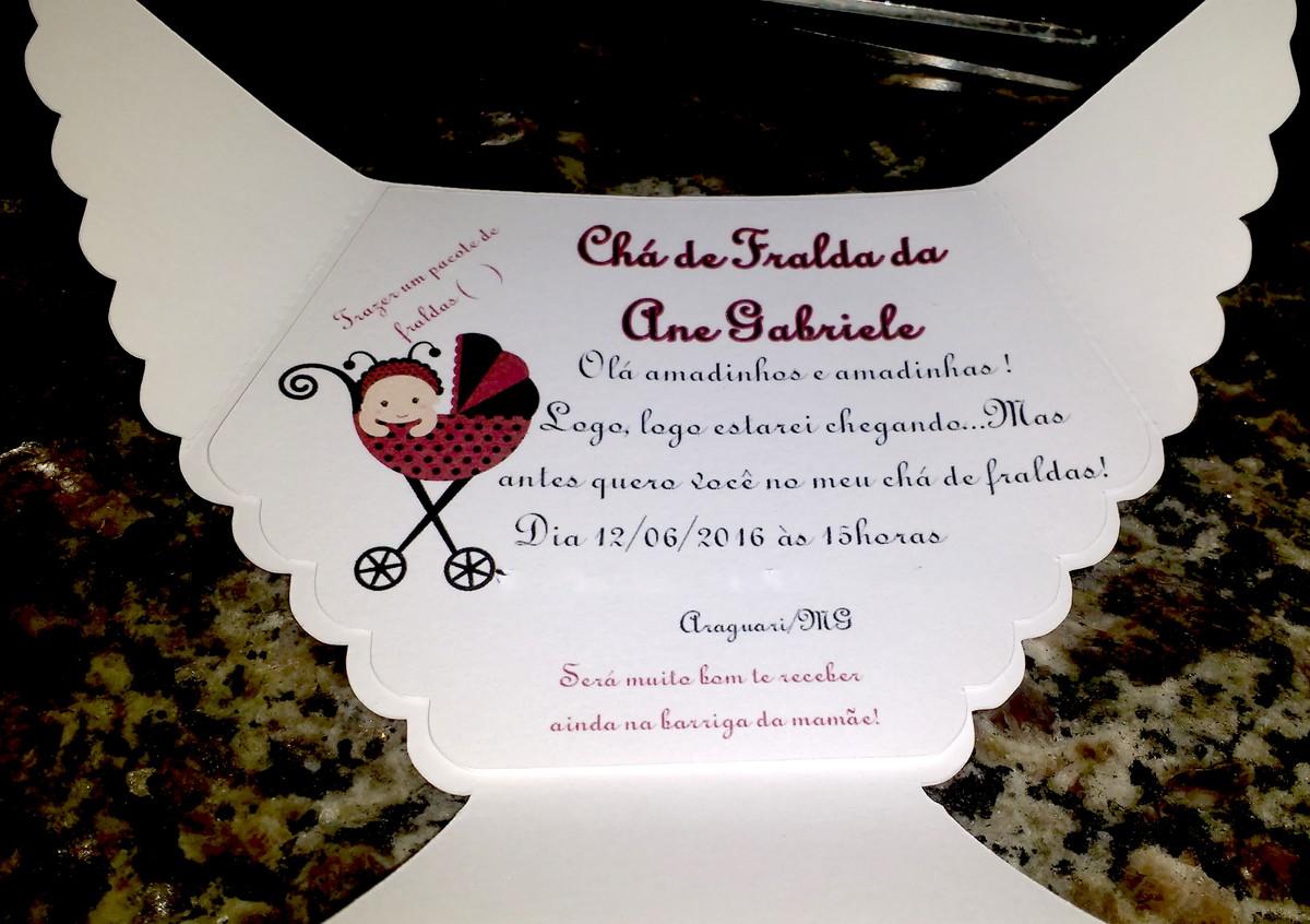 Mensagem De Convite De Cha De Fralda: Convite Personalizado Chá De Fralda/Bebe