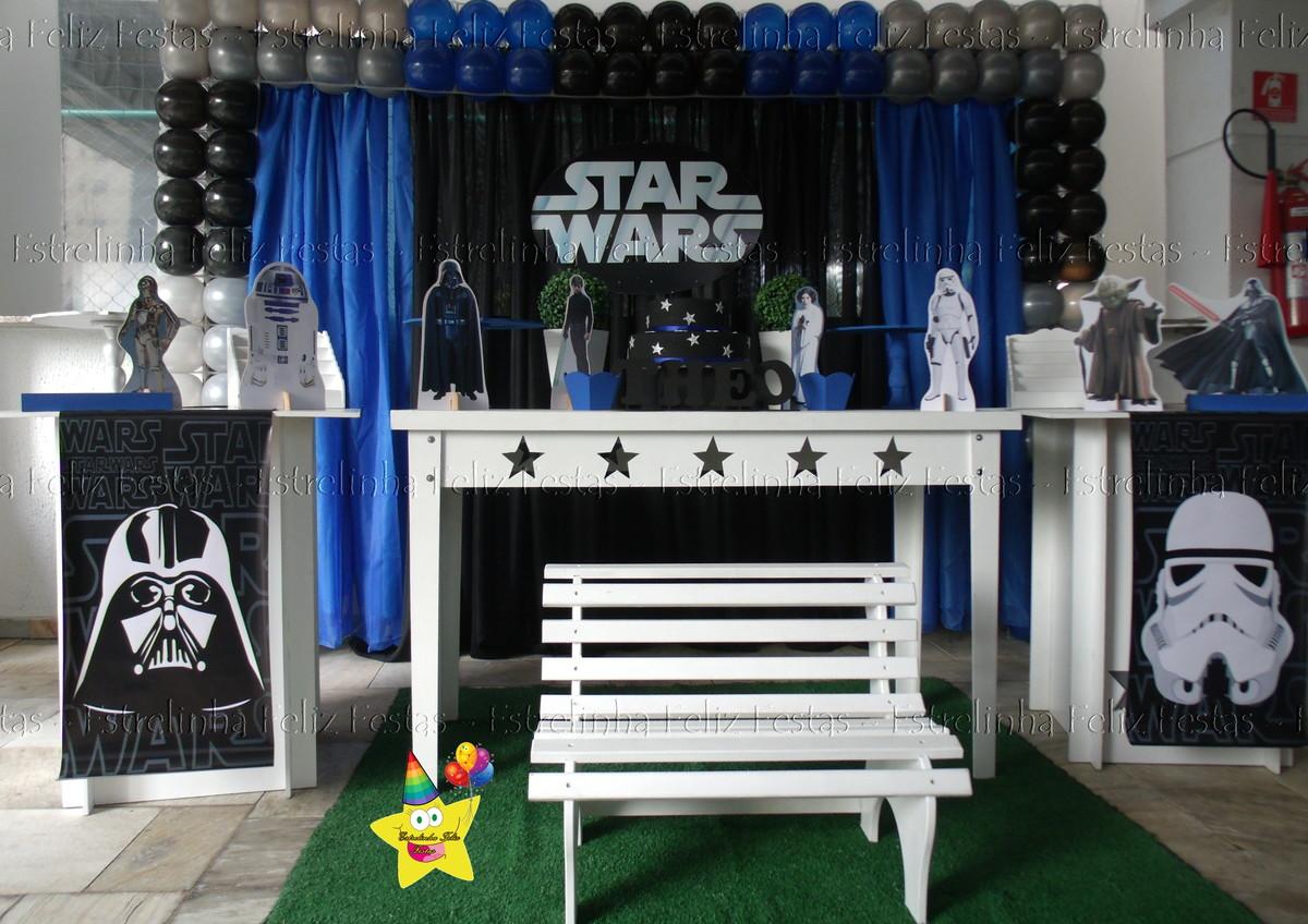 Decoração de festa star wars  Estrelinha Feliz Festas  Elo7